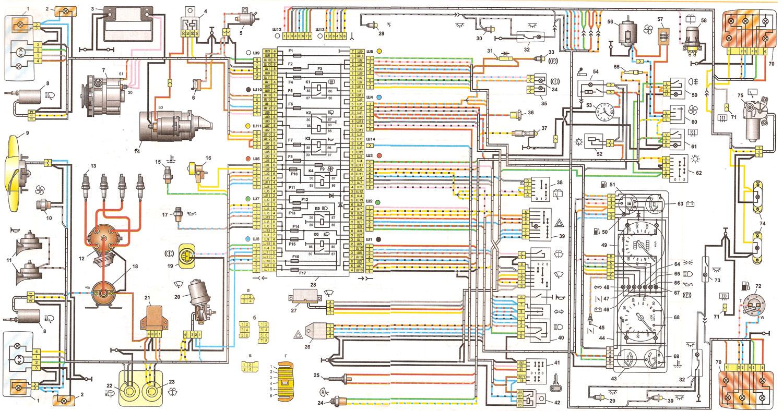 Схема электрооборудования на 2107i